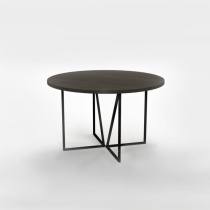 Apollo Round Dining Table, Solid Oak & Metal