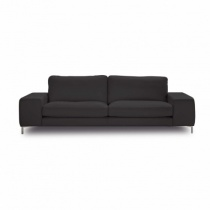 In Stock: Bilboa Sofa in Dark Grey Leather