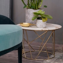 Ex-Display: Fern Calacatta Gold Marble Side Table