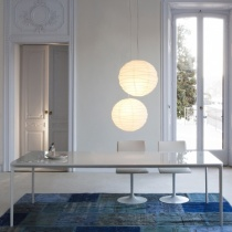 Fino Contemporary Italian Glass Dining Table