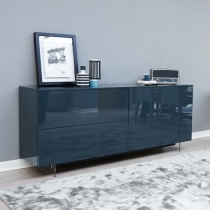Ex-Display: Space Sideboard, Green High Gloss
