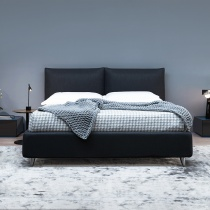 Ex-Display: Lola Bed with 2-Position Storage in Light Grey Fabric