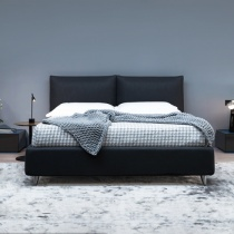 Ex-Display: Lola Bed with 2-Position Storage in Carbon Fabric