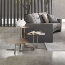 Lyric Square Rounded Metal Side Table
