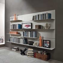 Wall Mounting Panels with Metal Floating Shelves