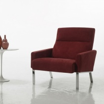 Monty Modern Italian Armchair, Fabric or Leather