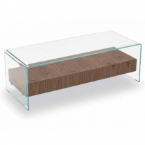 Move Glass Coffee Table with Drawer