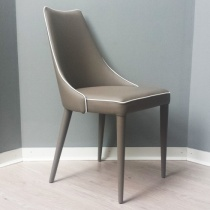 In Stock: Penelope Dining Chair, Fango with White Piping