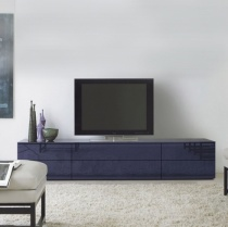 Space TV Unit, 3 Drop-Down Door, 3 Drawer (ST210A) 210cm