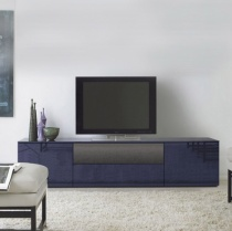 Space TV Unit, 1 Glass Drop-Down Door, 1 Drawer, 2 Door (ST210D) 210cm