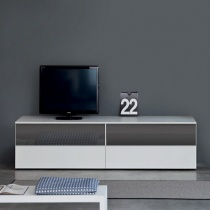 Space TV Unit, 2 Glass Drop-Down Door, 2 Drawer (ST180B) 180cm