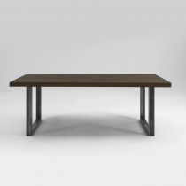 From Stock Treviso Oak & Metal Dining Table