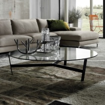 Venus Round Clear Glass Coffee Table