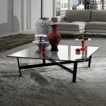 Venus Square Clear Glass Coffee Table