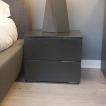 Ex-Display: Boss Bedside table, High Gloss Mink[1]