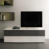 Space TV Unit, 1 Glass Drop-Down Door, 1 Drawer (ST120B) 120cm