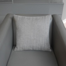 Ex-Display: 17'' x 17'' Square Cushion. Bauhaus Cinder Fabric