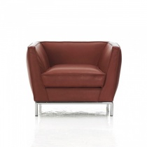Caress Modern Italian Armchair, Fabric Or Leather