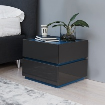 Como 2 Drawer Bedside Table. H38cm.