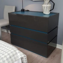 Ex-Display: Como Chest of Drawers in Anthracite Gloss