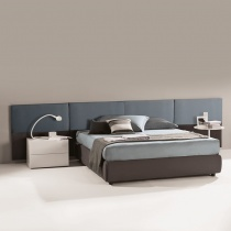 Dune Bed with 8 Panel Headboard (With Storage)