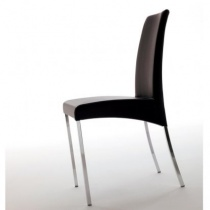 Eros Low Back Modern Dining Chair, Ecopelle