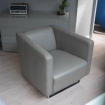 Ex-Display: Madison Armchair in Taupe Leather