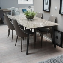 Ex-Display: Marmo Dining Table - Perfetto Brown Marble