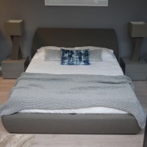 Ex-Display: Mellow Bed with 1-Position Storage in Pumice Fabric