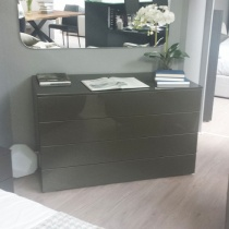Ex-Display: Boss Chest of Drawers, High Gloss Mink