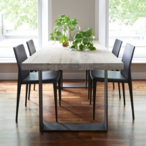Modena Solid Wood & Metal Dining Table