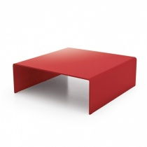 Move Modern Bent Glass Coffee Table, Square