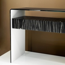 Move Modern Bent Glass Console Table with Drawer