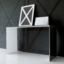 Move Modern Bent Glass Console Table