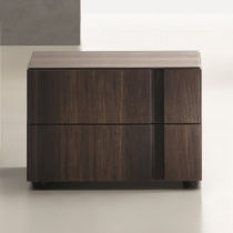 Muse 2 Drawer Bedside Table. H37cm. (MU37)