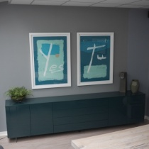 Ex-Display: Space Sideboard, Green High Gloss L300cm