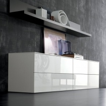Space Sideboard, 2 Drop-Down Door, 2 Drawer (SS240A) 240cm