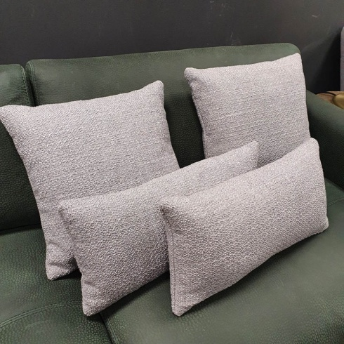 Clearance: Loop Silver Grey Fabric Cushions (Set of 4)