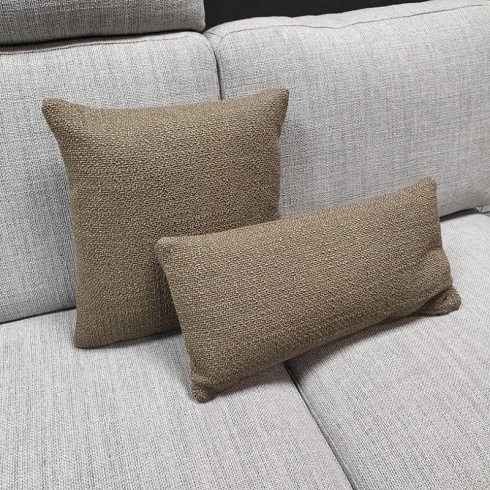 Clearance: Loop Taupe Fabric Cushions (Set of 2)