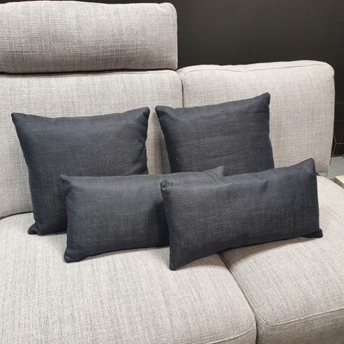 Clearance: Navy Blue Fabric Cushions (Set of 4)