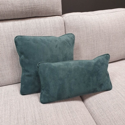 Clearance: Teal Green Fabric Cushions (Set of 2)