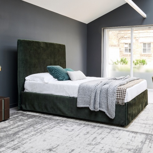 City Bed (Optional Storage), H138cm Headboard