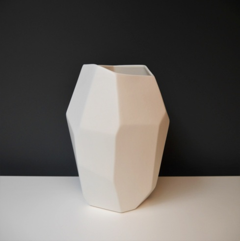 White Geo Ceramic Object