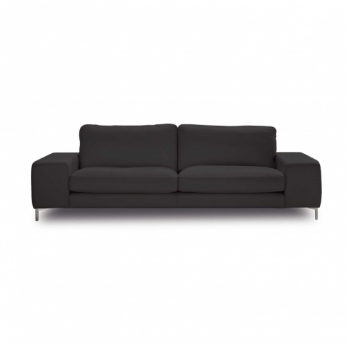Ex-Display: Bilboa Sofa in Dark Grey Leather
