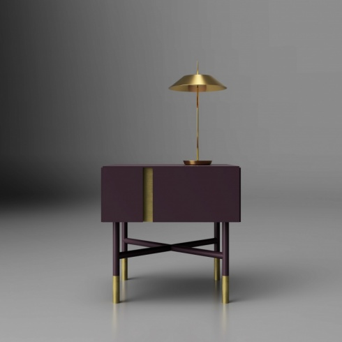 Circus Bedside Table, Lacquer