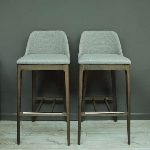 Ex-Display: X2 Form High Barstool Plaza Grey Steel (Set Of 2)