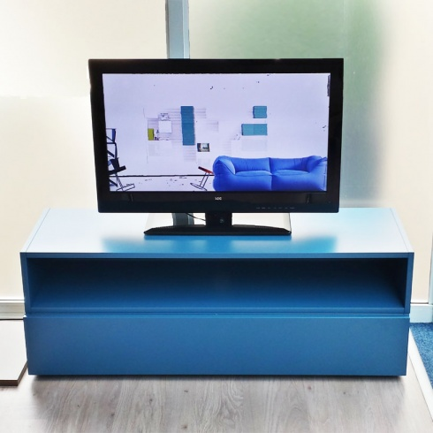 Ex-Display: Blue Matt Lacquer TV Unit