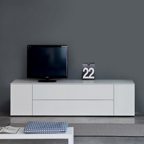 Space TV Unit, 1 Drop-Down Door, 1 Drawer, 2 Door (ST180F) 180cm