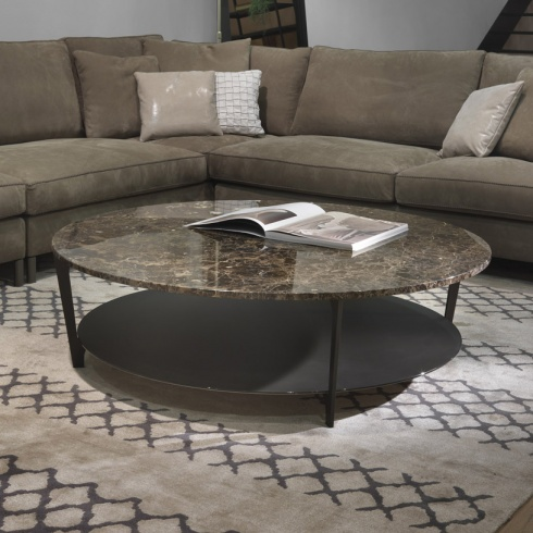 Soho Round Marble Coffee Table Amp Glass