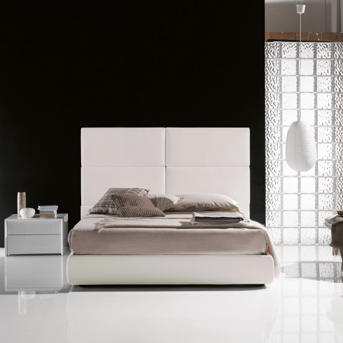 Dune Bed with 6 Panel Headboard (With Storage)